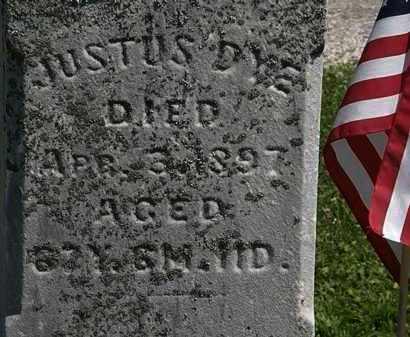 DYE, JUSTUS - Morrow County, Ohio | JUSTUS DYE - Ohio Gravestone Photos
