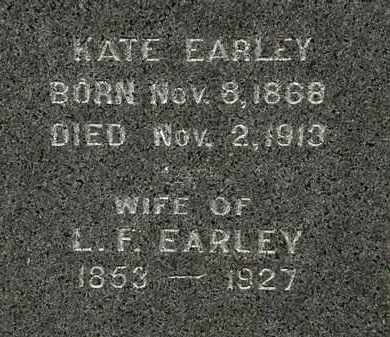EARLEY, KATE - Morrow County, Ohio | KATE EARLEY - Ohio Gravestone Photos