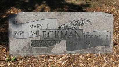 ECKMAN, HORACE R. - Morrow County, Ohio | HORACE R. ECKMAN - Ohio Gravestone Photos