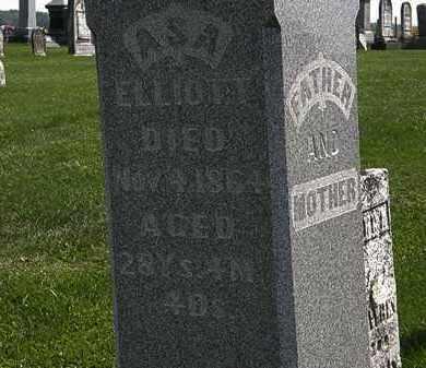 ELLIOTT, ASA - Morrow County, Ohio | ASA ELLIOTT - Ohio Gravestone Photos