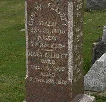 ELLIOT, GEO. W. - Morrow County, Ohio | GEO. W. ELLIOT - Ohio Gravestone Photos