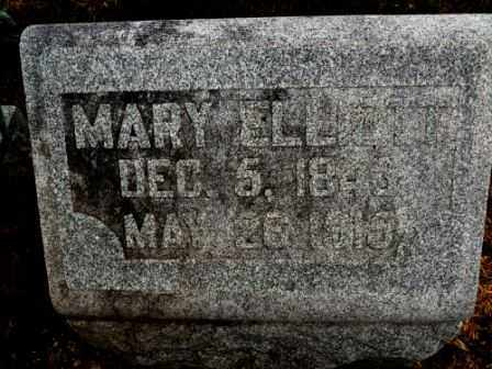 ELLIOTT, MARY - Morrow County, Ohio | MARY ELLIOTT - Ohio Gravestone Photos