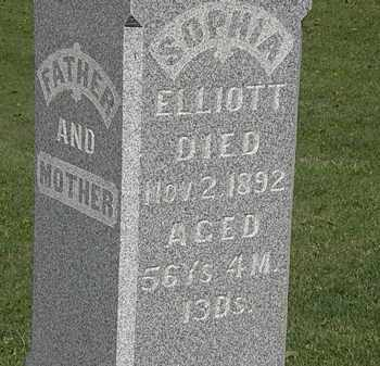 ELLIOTT, SOPHIA - Morrow County, Ohio   SOPHIA ELLIOTT - Ohio Gravestone Photos