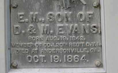 EVANS, E.M. - Morrow County, Ohio | E.M. EVANS - Ohio Gravestone Photos