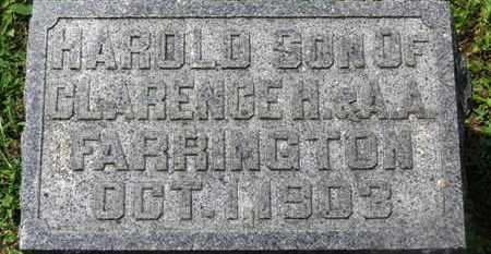 FARRINGTON, HAROLD - Morrow County, Ohio | HAROLD FARRINGTON - Ohio Gravestone Photos