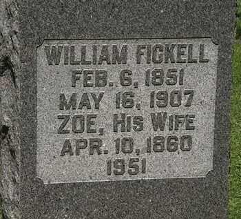 FICKEL, WILLIAM - Morrow County, Ohio | WILLIAM FICKEL - Ohio Gravestone Photos