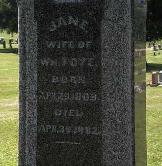 FOYE, JANE - Morrow County, Ohio | JANE FOYE - Ohio Gravestone Photos