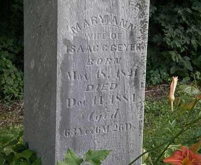 GEYER, MARY ANN - Morrow County, Ohio | MARY ANN GEYER - Ohio Gravestone Photos
