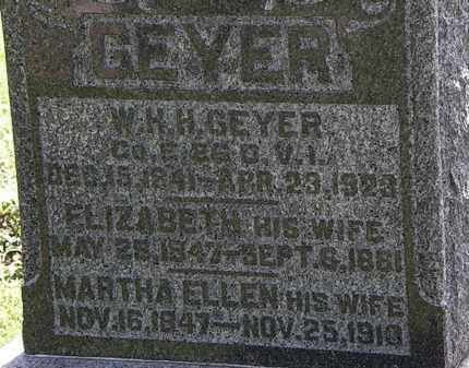 GEYER, MARTHA ELLEN - Morrow County, Ohio | MARTHA ELLEN GEYER - Ohio Gravestone Photos