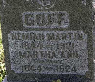 GOFF, NEMIAH MARTIN - Morrow County, Ohio | NEMIAH MARTIN GOFF - Ohio Gravestone Photos