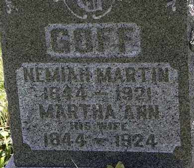 GOFF, NEMIAH MARTIN - Morrow County, Ohio   NEMIAH MARTIN GOFF - Ohio Gravestone Photos