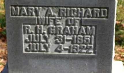 GRAHAM, MARY A. - Morrow County, Ohio | MARY A. GRAHAM - Ohio Gravestone Photos