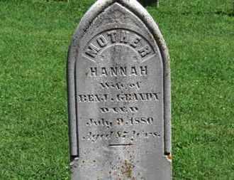 GRANDY, HANNAH - Morrow County, Ohio | HANNAH GRANDY - Ohio Gravestone Photos
