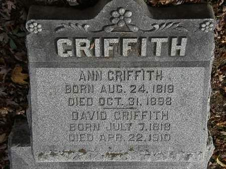 GRIFFITH, ANN - Morrow County, Ohio | ANN GRIFFITH - Ohio Gravestone Photos