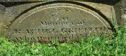 GRIFFITH, RACHEL - Morrow County, Ohio | RACHEL GRIFFITH - Ohio Gravestone Photos