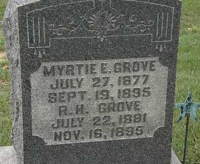 GROVE, MYRTIE E. - Morrow County, Ohio   MYRTIE E. GROVE - Ohio Gravestone Photos