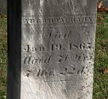 HAHN, ABRAHAM - Morrow County, Ohio | ABRAHAM HAHN - Ohio Gravestone Photos