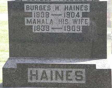 HAINES, BURGES H. - Morrow County, Ohio | BURGES H. HAINES - Ohio Gravestone Photos