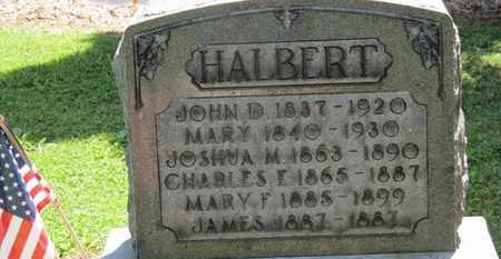 HALBERT, JOHN D. - Morrow County, Ohio | JOHN D. HALBERT - Ohio Gravestone Photos