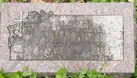 HALBERT, LOREN - Morrow County, Ohio | LOREN HALBERT - Ohio Gravestone Photos