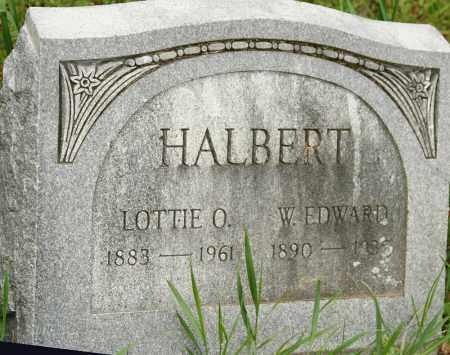 HALBERT, W. EDWARD - Morrow County, Ohio | W. EDWARD HALBERT - Ohio Gravestone Photos