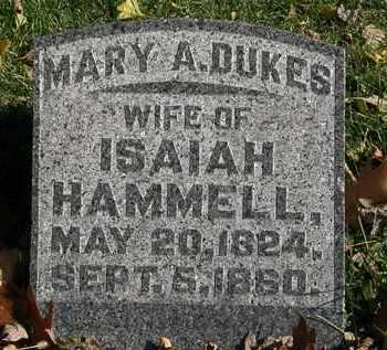 DUKES HAMMELL, MARY A. - Morrow County, Ohio | MARY A. DUKES HAMMELL - Ohio Gravestone Photos