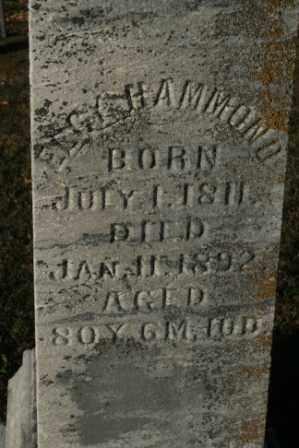 HAMMOND, ELGY OR EEGY - Morrow County, Ohio | ELGY OR EEGY HAMMOND - Ohio Gravestone Photos