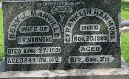 HAMMOND, C. FRANKLIN - Morrow County, Ohio | C. FRANKLIN HAMMOND - Ohio Gravestone Photos
