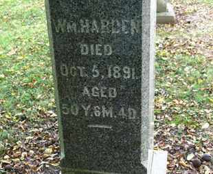 HARDEN, WM. - Morrow County, Ohio | WM. HARDEN - Ohio Gravestone Photos