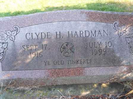 HARDMAN, CLYDE H - Morrow County, Ohio | CLYDE H HARDMAN - Ohio Gravestone Photos