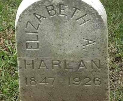 HARLAN, ELIZABETH A. - Morrow County, Ohio   ELIZABETH A. HARLAN - Ohio Gravestone Photos