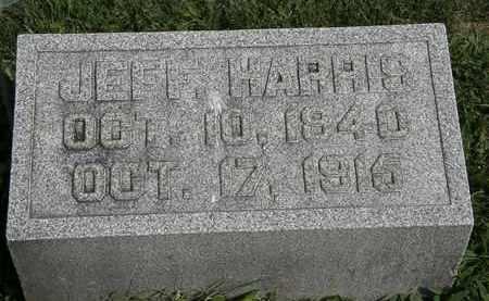 HARRIS, JEFF. - Morrow County, Ohio | JEFF. HARRIS - Ohio Gravestone Photos