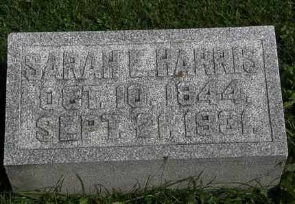 HARRIS, SARAH E. - Morrow County, Ohio | SARAH E. HARRIS - Ohio Gravestone Photos