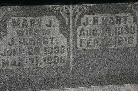 HART, MARY J. - Morrow County, Ohio   MARY J. HART - Ohio Gravestone Photos