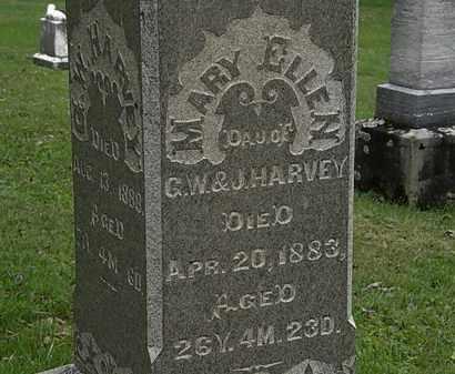 HARVEY, MARY ELLEN - Morrow County, Ohio | MARY ELLEN HARVEY - Ohio Gravestone Photos