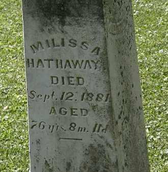 HATHAWAY, MILISSA - Morrow County, Ohio   MILISSA HATHAWAY - Ohio Gravestone Photos
