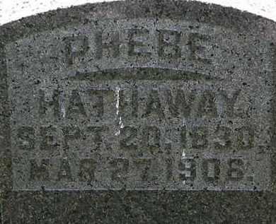 HATHAWAY, PHEBE - Morrow County, Ohio | PHEBE HATHAWAY - Ohio Gravestone Photos