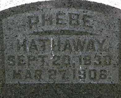 HATHAWAY, PHEBE - Morrow County, Ohio | PHEBE HATHAWAY - Ohio Gravestone Photos