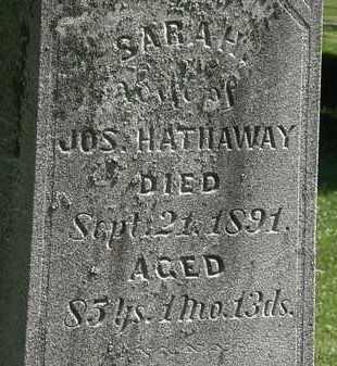 HATHAWAY, SARAH - Morrow County, Ohio | SARAH HATHAWAY - Ohio Gravestone Photos