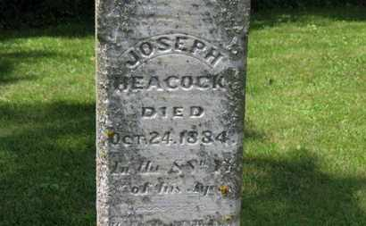 HEACOCK, JOSEPH - Morrow County, Ohio | JOSEPH HEACOCK - Ohio Gravestone Photos