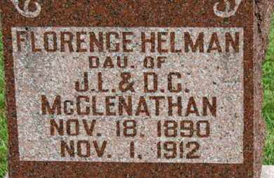 HELMAN, FLORENCE - Morrow County, Ohio | FLORENCE HELMAN - Ohio Gravestone Photos