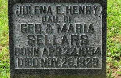 SELLARS, GEO. - Morrow County, Ohio | GEO. SELLARS - Ohio Gravestone Photos