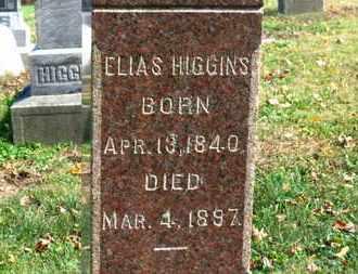 HIGGINS, ELIAS - Morrow County, Ohio   ELIAS HIGGINS - Ohio Gravestone Photos