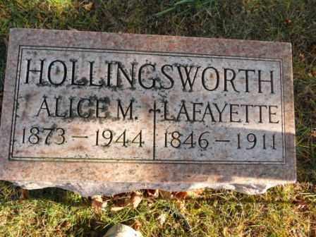 HOLLINGSWORTH, LAFAYETTE - Morrow County, Ohio | LAFAYETTE HOLLINGSWORTH - Ohio Gravestone Photos
