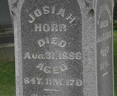 HORR, JOSIAH - Morrow County, Ohio   JOSIAH HORR - Ohio Gravestone Photos