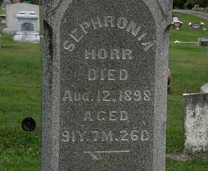 HORR, SEPHRONIA - Morrow County, Ohio | SEPHRONIA HORR - Ohio Gravestone Photos