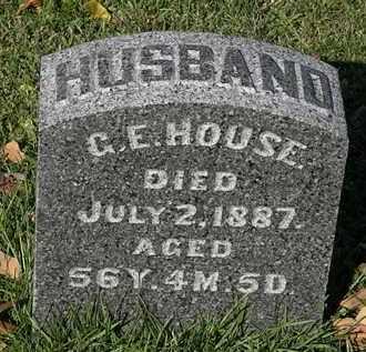 HOUSE, C.E. - Morrow County, Ohio   C.E. HOUSE - Ohio Gravestone Photos