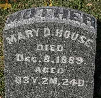 HOUSE, MARY D. - Morrow County, Ohio | MARY D. HOUSE - Ohio Gravestone Photos