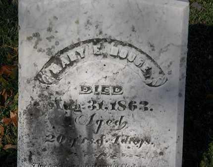 HOUSE, MARY E. - Morrow County, Ohio | MARY E. HOUSE - Ohio Gravestone Photos