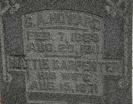 CARPENTER HOWARD, MATTIE - Morrow County, Ohio | MATTIE CARPENTER HOWARD - Ohio Gravestone Photos
